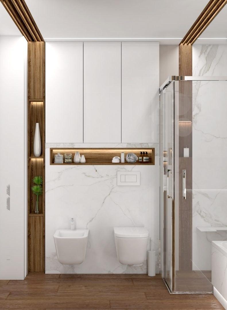 łazienka Nowoczesna Jasna Architeka